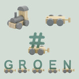 Houten Treinletter N Groen