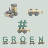 Houten Treinletter T Groen_