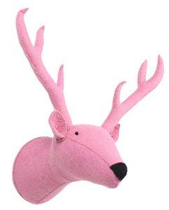 Kidsdepot Dierenhoofd Raindeer / Rendier Pink
