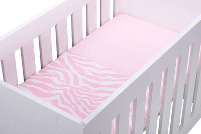 Kidsdepot Zebra Baby laken 110 x 140 Flamingo