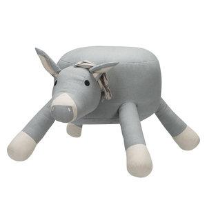 Kidsdepot poef Donkey Grey