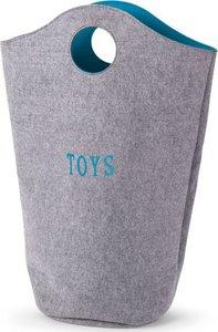 Childhome Vilten Speelgoedzak Grijs - Turquoise