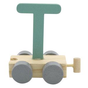 Houten Treinletter T Groen