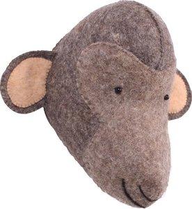 Kidsdepot Dierenhoofd Monkey / Aap Bruin