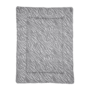 Meyco Boxkleed Zebra grijs